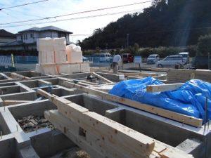 新築工事 基礎 土台